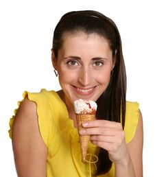 Ice Cream Cake Stock Photography