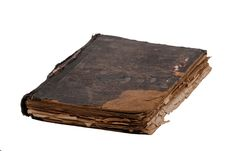 Free Ancient Book On White Stock Photo - 8756950