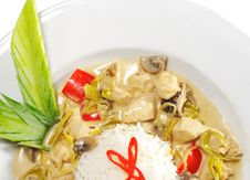 Thai Dishes - WOK Chicken Royalty Free Stock Photography