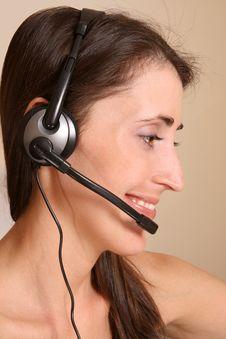 Free Girl On Communication Stock Image - 8757101