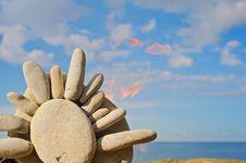 Free Stone Sun Royalty Free Stock Image - 8757366