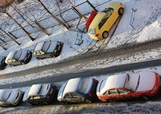 Free Cars In A Court Yard Stock Image - 8757511
