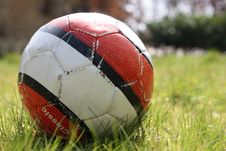 Free Worn Down Soccer Ball Royalty Free Stock Photography - 8757547
