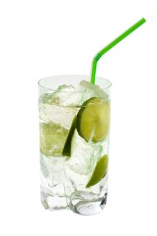 Free Сocktail, Lime And Ice. Stock Photography - 8759262