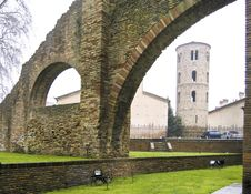 Arch And Bell Tower Royalty Free Stock Photography