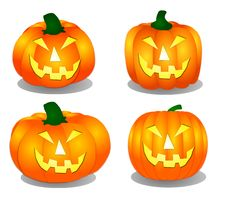 Free Halloween Pumpkins Stock Photography - 8759902