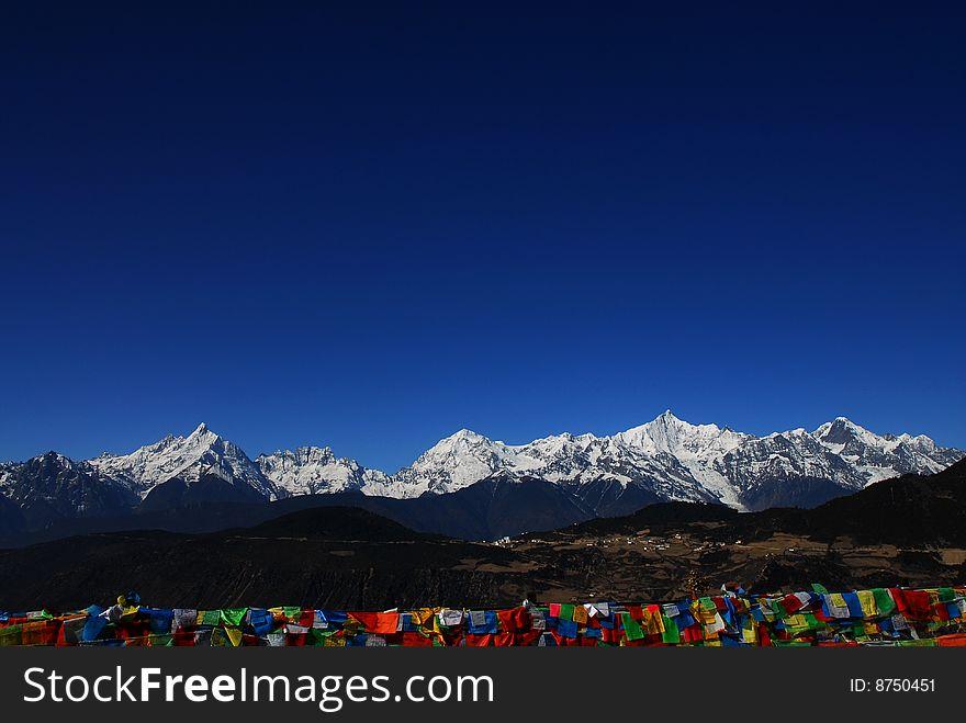God mountain of Tibetan- Meili