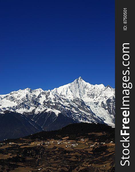 God mountain of Tibetan- Meili in the morning
