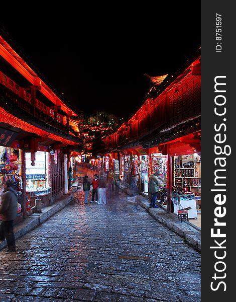 Night Lijiang, shopping