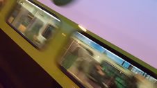 Free Blurry New Go Train 20151120_171231 Royalty Free Stock Images - 87502729
