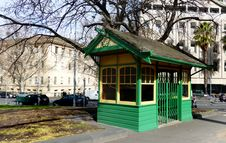 Free Melbourne Tram Shelters. Royalty Free Stock Images - 87502879