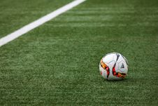 Free Football On Turf In Stadium Stock Image - 87589651