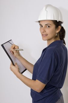 Free Young Female Engineer Stock Photography - 8760042