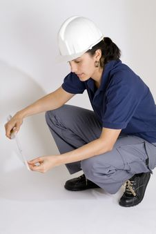 Free Young Female Engineer Stock Images - 8760074