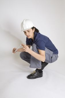 Free Young Female Engineer Royalty Free Stock Photos - 8760088