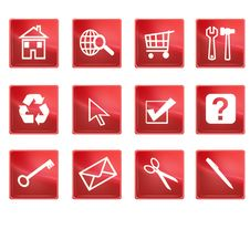 Free Icons Royalty Free Stock Image - 8760306