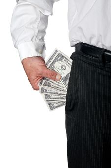 Free A Business Exective In Pin Striped Pants With Cash Stock Images - 8761114