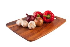 Vegetables On Cutting Board Royalty Free Stock Image