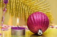 Free Festive New-year Candle Stock Photos - 8761453