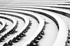 Free Amphitheater Was Buried In Snow Stock Photos - 8762013