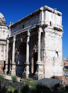 Free Arch Of Septimius Severus (Rome) Royalty Free Stock Photo - 8762025