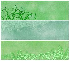 Free Grassy Grunge Banners Or Headers Royalty Free Stock Images - 8762899