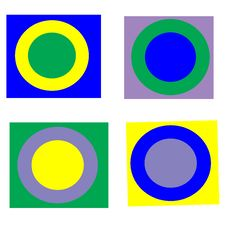 Free Pop Art Circles On Square Stock Photography - 8763622