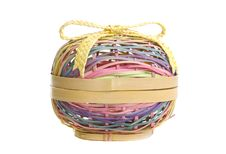Free Wicker Easter Basket Stock Images - 8764074