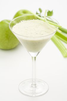 Free Fresh Fruit Milk Shake Apple Stock Photos - 8764133