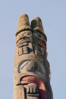 Free Pacific Northwest Totem Pole Stock Photography - 8764212