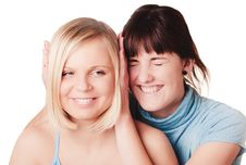 Free Two Smiling Girls Royalty Free Stock Image - 8765546