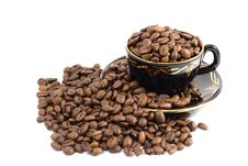 Free Cup Coffee Beans Stock Photos - 8766013