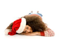 Free Woman Wearing Red Christmas Hat Stock Photos - 8766363