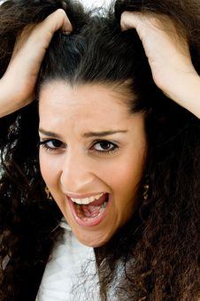 Free Frustrated Hispanic Female Royalty Free Stock Photography - 8766707