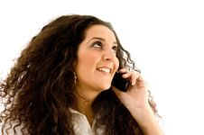 Free Latin American Woman Talking On Phone Stock Photography - 8766802