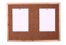 Free Wooden Board With A Blank Paper Note Stock Photo - 8766830