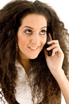 Free Beautiful Woman Busy With Phone Call Royalty Free Stock Image - 8766836