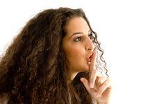 Free Hispanic Female Shushing With Finger Royalty Free Stock Photos - 8766838