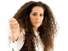 Free Hispanic Female Showing Thumbs Down Royalty Free Stock Photography - 8766927
