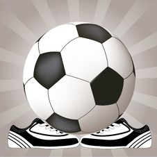 Free Soccer Design With Ball And Shoes Stock Photo - 8767200