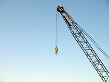 Free Crane On A Clear, Blue Sky Background Royalty Free Stock Photo - 8768295