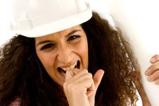 Free Young Frustrated Female Architect Royalty Free Stock Photo - 8768725