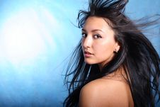 Free Hair Motion. Model Portrait Royalty Free Stock Image - 8768736