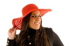Free Beautiful Model Wearing Hat Royalty Free Stock Photography - 8768747