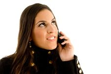 Free Close Up Of Beautiful Model Talking On Phone Stock Photo - 8768840