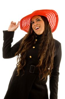 Free Pretty Young Model Wearing Hat Stock Photo - 8768850