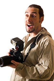 The Man The Photographer Stock Photo