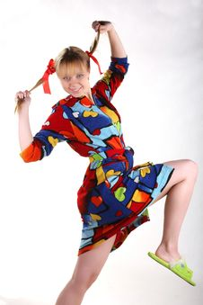 Free Many-coloured Girl Smiling Royalty Free Stock Photo - 8769445