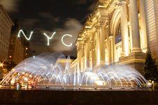 Free Fountain At NYC Royalty Free Stock Photos - 87660288