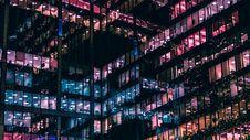 Free Illuminated Office Building At Night Stock Photography - 87660652
